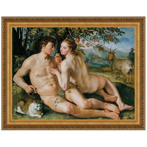 The Fall of Man, 1616: Canvas Replica Painting: Large