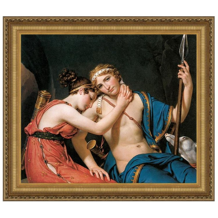 View larger image of The Farewell of Telemachus and Eucharis, 1818:  Medium