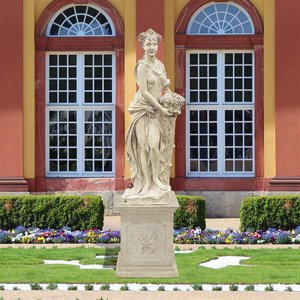 The Four Goddesses of the Seasons Statue: Autumn Statue & Plinth