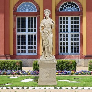 The Four Goddesses of the Seasons Statue: Spring (Statue with Plinth)