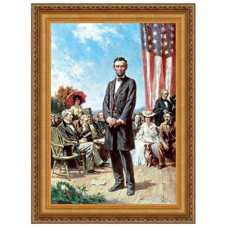 View larger image of The Gettysburg Address of 1863: Canvas Replica Painting: Small