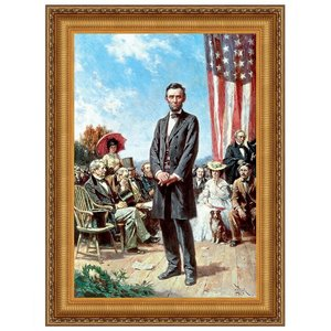 The Gettysburg Address of 1863: Canvas Replica Painting: Small