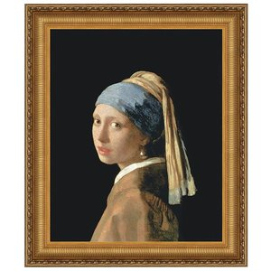 The Girl with a Pearl Earring, 1665: Canvas Replica Painting: Medium