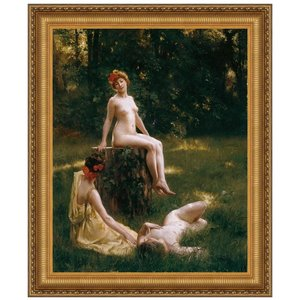 The Glade, 1900: Canvas Replica Painting: Large