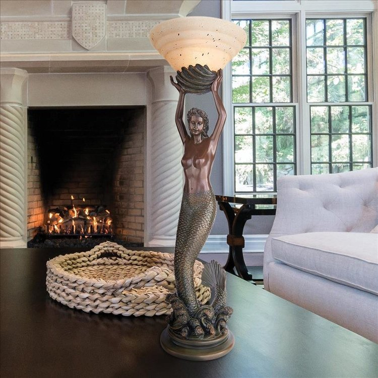 View larger image of The Goddess Offering Mermaid Sculptural Table Lamp