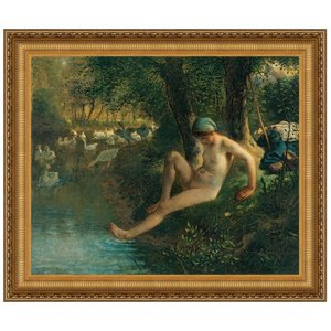 The Goose Girl, 1863: Canvas Replica Painting: Large