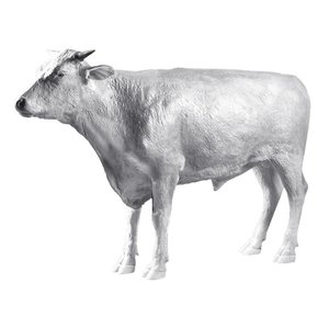 The Grand-Scale Wildlife Animal Collection: Hereford Steer Statue: Unpainted