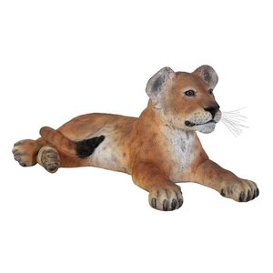 The Grand-Scale Wildlife Animal Collection Lion Cub Statue: Lying Down