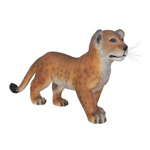 The Grand-Scale Wildlife Animal Collection Lion Cub Statue: Standing Down