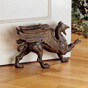 The Growling Griffin Authentic Foundry Iron Doorstop