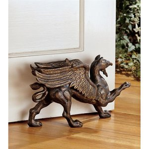 The Growling Griffin Authentic Foundry Iron Doorstop: Set of Two