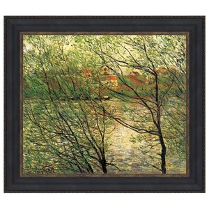 The Isle Grande-Jatte on the Seine, 1878: Canvas Replica Painting: Large