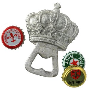 The King's Silver Crown Cast Iron Bottle Opener