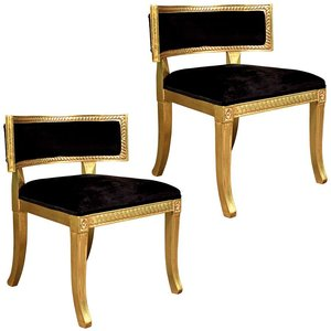 The Klismos Lowback Lounger Chair: Set of Two