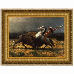 The Last of the Buffalo, 1888: Canvas Replica Painting: Grande