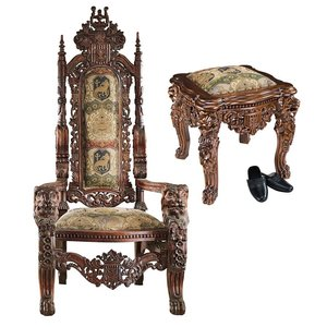 The Lord Raffles Throne and Ottoman Set