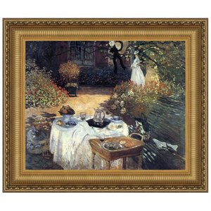 The Luncheon, Monet's Garden at Argenteuil, 1873: Canvas Replica Painting: Grande