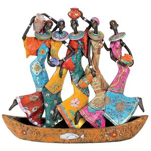 The Maiden Water Carriers of Ghana Sculpture