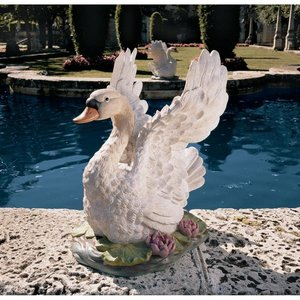 The Majesty of Swan Lake Sculpture: Set of Two