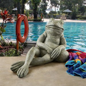 The Most Interesting Toad in the World Frog Garden Statue