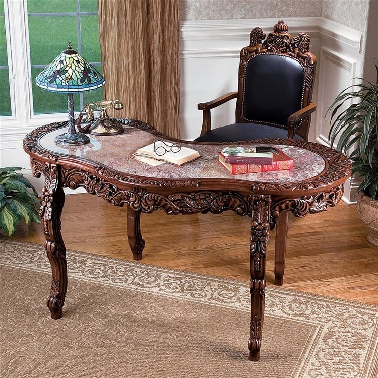 View larger image of The Mountbatten Hardwood Marble-Topped Desk