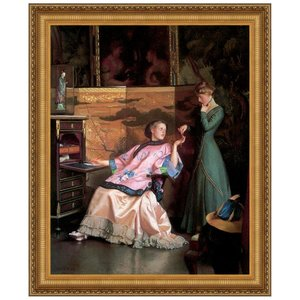 The New Necklace, 1910: Canvas Replica Painting: Medium