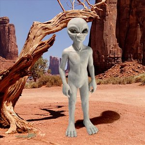The Out-of-this-World Alien Extra Terrestrial Statue: Large