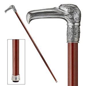 The Padrone Collection: Art Deco Nast Eagle Pewter Walking Stick