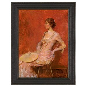 The Palm Leaf Fan, 1906: Canvas Replica Painting: Large
