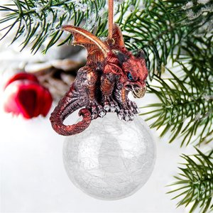 The Pensive Percher Dragon Collectible Holiday Ornament