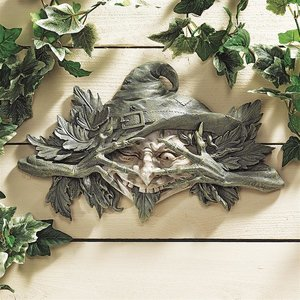 The Poison Ivy Forest Witch: Greenman Wall Sculpture