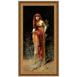 The Priestess of Delphi, 1891: Canvas Replica Painting: Large