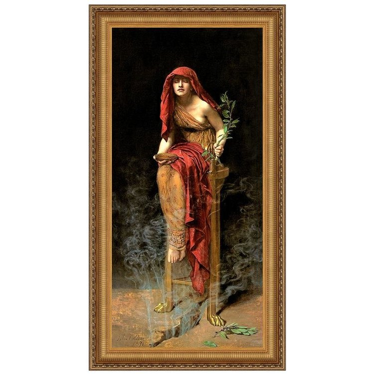 View larger image of The Priestess of Delphi, 1891: Canvas Replica Painting: Small