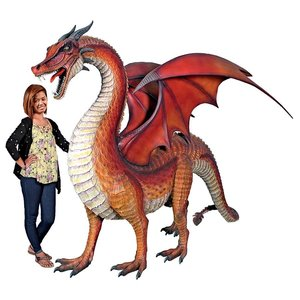 The Red Welsh Dragon Monument-Sized Statue
