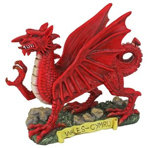 The Red Welsh Dragon Statue Collection: Desktop