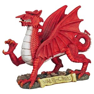 The Red Welsh Dragon Statue Collection: Medium