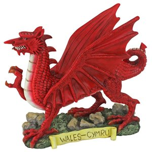 The Red Welsh Dragon Statue Collection: Small
