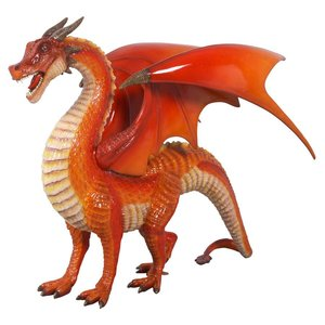 The Red Welsh Dragon Statue: Large