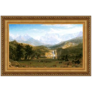 The Rocky Mountains, Lander's Peak, 1863 Canvas Replica Painting: Large