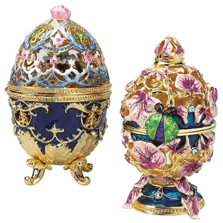 View larger image of The Royal Garden Romanov-style Collectible Enameled Egg Set
