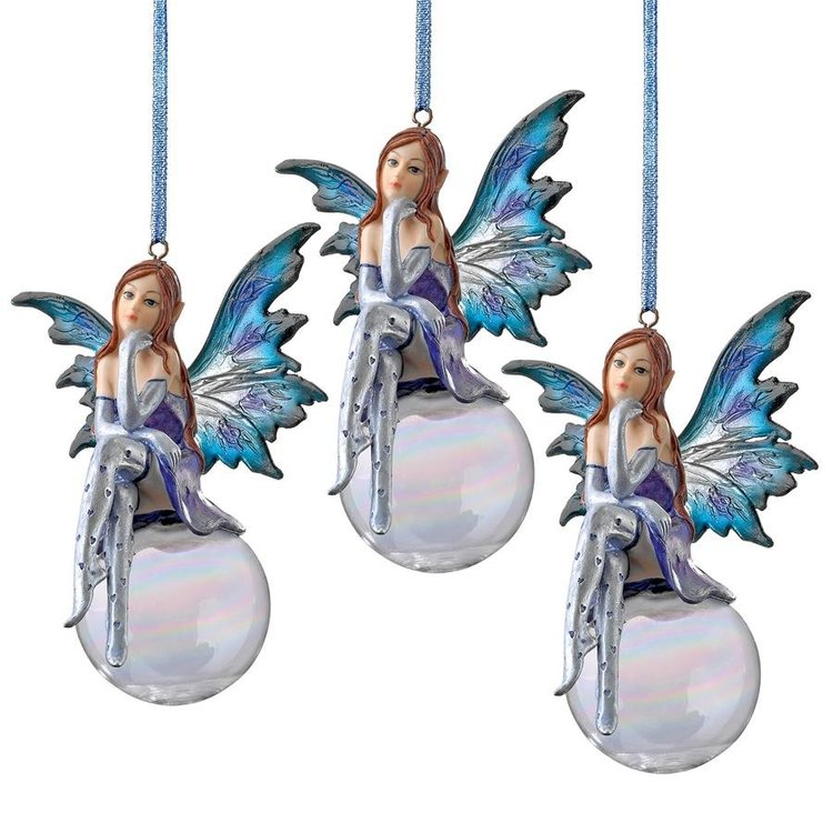 View larger image of The Snow Fairy Goddess Holiday Ornament: Set of Three