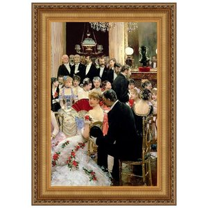 The Soiree, 1880: Canvas Replica Painting: Grande