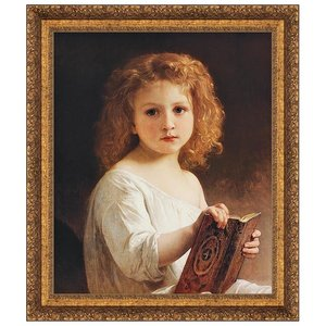 The Story Book, 1877: Canvas Replica Painting: Large