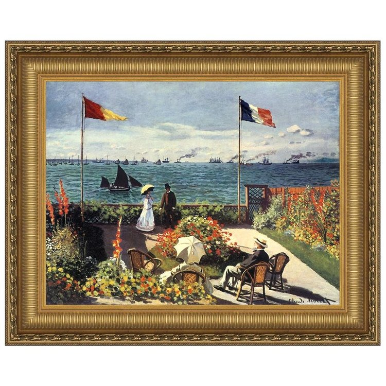 View larger image of The Terrace at Sainte-Adresse, 1867: Canvas Replica Painting: Grande