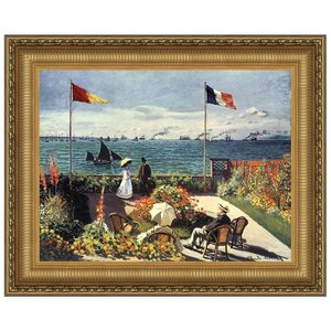The Terrace at Sainte-Adresse, 1867: Canvas Replica Painting: Large