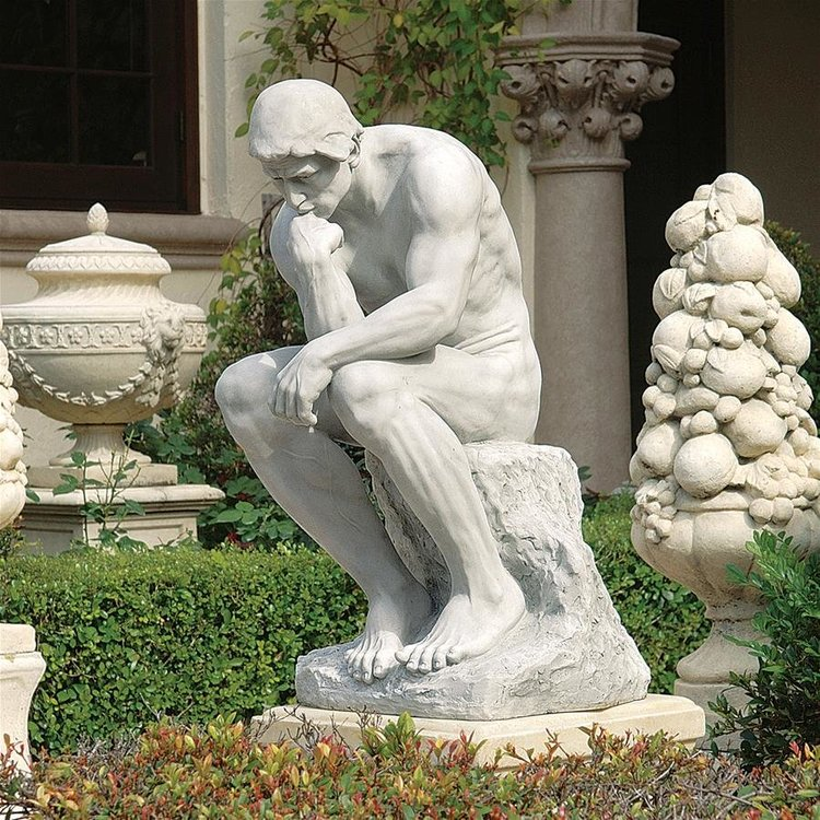 View larger image of Rodin's Thinker Garden Statue: Estate