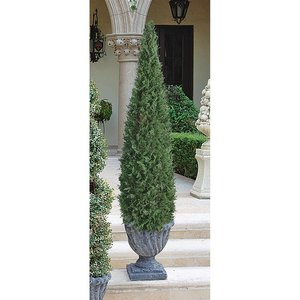 Cone Faux Evergreen Topiary Trees