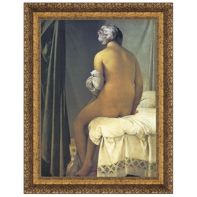 View larger image of The Valpincon Bather, 1808: Canvas Replica Painting
