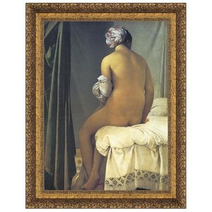 The Valpincon Bather, 1808: Canvas Replica Painting: Small