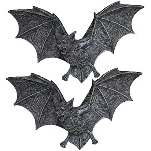 The Vampire Bats of Castle Barbarosa Wall Sculptures: Large Set of Two